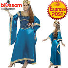 CA367 Deluxe Maid Marian Dress Up Game of Thrones Blue Medieval Marion Costume
