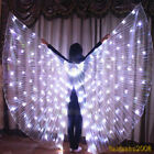 LED isis wings bellydance glow show cosplay club prop costume include sticks bag