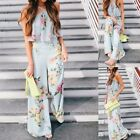 Womens Ladies Clubwear V Neck Playsuit Bodycon Party Jumpsuit Romper Trousers