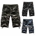Outdoor Men Camouflag Cotton Shorts Casual Summer Beach Shorts Cropped Trousers