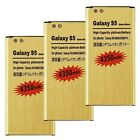 4350mAh High-Capacity Gold Battery & Charger for SamSung Galaxy S 5 i9600 G900A