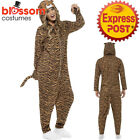 CA393 Tiger Zoo Animal Ladies Mens Fancy Dress Jumpsuit Book Week Funny Outfit