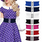 Coloured 3 Inch Wide Clasp Buckle Elastic Cinch Waspie Dress Belt