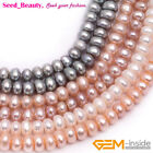 Rondelle Freshwater Cultured Pearls Heishi Spacer Beads for Jewelry Making 15""