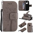 Flip Leather Wallet Cards Strap Stand Patterned Case Cover For Nokia Phone Model
