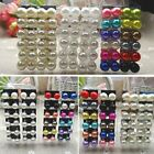 NEW Women's 12Pair/pack 2-12mm Ear Stud Faux Pearl Round Ball Earrings Set color