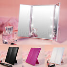 8 LED Light Foldable Makeup Mirror Luxebell Protable Tri-fold Tabletop Cosmetic