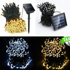 100 200 Solar powered Warm White 33-66FT 100LED  LED String Fairy Light lamp
