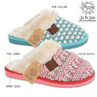 Ladies Womens Winter Warm Knitted Style Luxury Soft  Fur Lined Slippers Mules