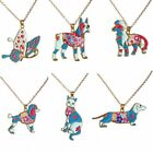 Fashion Handmade Animal Dog Cat Butterfly Pendant Necklace Women Family Jewelry