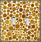 Light Switch Plate Cover - Shades Of Rust Brown Polka Dots - Modern Home Decor