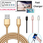 0.8ft-10ft Nylon Braided Data Quick Charger Cable Cord For Ipad4 Air 2 Mini 3/4