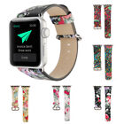 Retro Folk Style Genuine Leather Watch Band Strap for Apple Watch 38/42MM