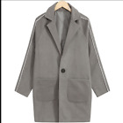 Japanese Style Mens long Coats Loose Lapel Classical Clothes Fashion