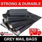 200 Pack All Sizes Grey Mailing Bags Postal 55MU Mail 6x9 9x12 10x14 12x16 17x24