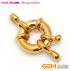Gold Plated Spring Ring Jewelry Clasp Size About: 12x14mm