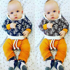 2* Kids Outfit Baby Boy Girl Clothes Hoodie T-shirt Tops+Pants Gift Sets us
