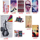 Leather Wallet Pictorial Case For Huawei P8 Lite Stand Card Slot Shockproof