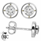 BJC 18 Carats Or blanc Découpe RONDE BRILLANTE Diamant Clous 0.40ct CT