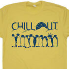 Chill Out Penguin T Shirt Netflix and Chill Shirt Cool Funny Animal Shirt Saying