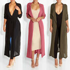 New Arrival Cute Ladies Long Sleeve Lapel Long Fashion Chiffon Cardigan