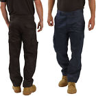 Mens Work Trousers Size 28 to 52 Black or Navy NEW CARGO COMBAT TROUSERS BWM/08