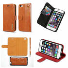 For iPhone 6 6s Microfiber Genuine Leather Luxury Separable Wallet Case Cover