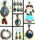 WIZARD OF OZ DOROTHY CLIP CAR CHARM BRACELET NECKLACE WICKED RUBY SLIPPERS WAND