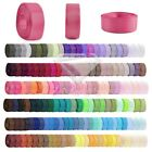 10 Meters Grosgrain Ribbon 6/10/15/20/25/38mm Craft Bows Party Favor 40 Colors