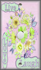 Metal Light Switch Plate Cover - Watercolor Flowers Live Love Laugh Multi 04