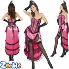 Womens Sexy Burlesque Can Can Costume Adult 1920s Show Girl Flapper Fancy Dress