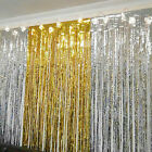 Metallic Fringe Curtain Party Foil Tinsel Room Door Wholesale Home Wedding 2m*1m