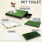 Pet Dog Potty Training Portable Toilet Pad Tray Multi Sizes With 1/2 Grass Mat