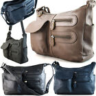 Medium Women Girl Satchel Faux Leather Cross Body Bags Ladies Shoulder Handbags