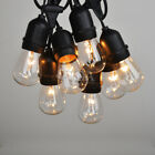 37.5/100 Ft S14 Clear Outdoor Patio Edison String Light Set - Black Wire
