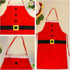 New Ladies Cleaning Apron Women Kids Kitchen Christmas Supplies Lovely Red Color