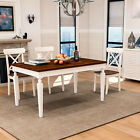 Merax Solid Wood Retangular Dining Table Home Furniture Kitchen Dining Table
