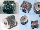 .925 Sterling Silver Bali Ornate Drum Beads Your Choice of Shape