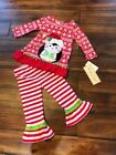NWT Rare Too Red White Penguin Fancy Christmas outfit Shirt Top Tunic 18 24 mo