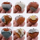 34-39mm Polychrome jasper heart pendant *each one picture*