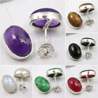925 PURE Silver, Natural Gemstone EARRINGS ! Handcrafted Fashion Jewelry NEW