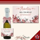 L42 Personalised Mini Individual Prosecco Bottle Custom Label Party Bridal