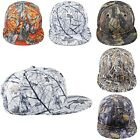 Fashion All Over Floral Print Snapback Hat Cap Weed Leaf Cannabis Flat Bill