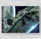 Millenium Falcon Movie Poster, Star Wars, Large Wall Art, Photo, Print, #051