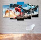 Spiderman Home Coming 5 Panel Canvas, Wall Art, Picture, Painting, Print #142