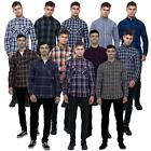 Mens Brave Soul Lumberjack Check Shirt Collection Brushed Cotton Long Sleeve