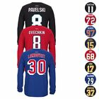 NHL Reebok Team Player Jersey Name & Number Long Sleeve T-Shirt Collection Men's