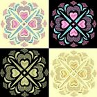 Anemone Quilt Squares 5- DESIGN 4-Anemone Machine Embroidery Singles- In 4 Sizes
