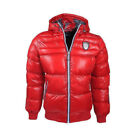 Geographical Norway DB7 Creative Denim Mens Padded Puffer Jacket Casamia Red P4