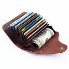 Mens Multifunction Leather Credit Card ID Holders Short Wallet Coin Pocket Purse